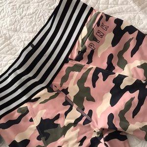 Pink workout pants